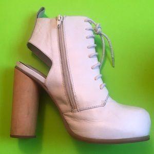Jeffrey Campbell Havana Last 7M Leather White Heel